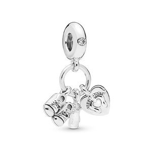Baby Bottle & Shoes Dangle Charm 798106CZ